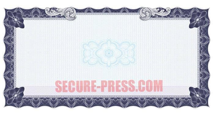 Professional printable blank certificate paper
